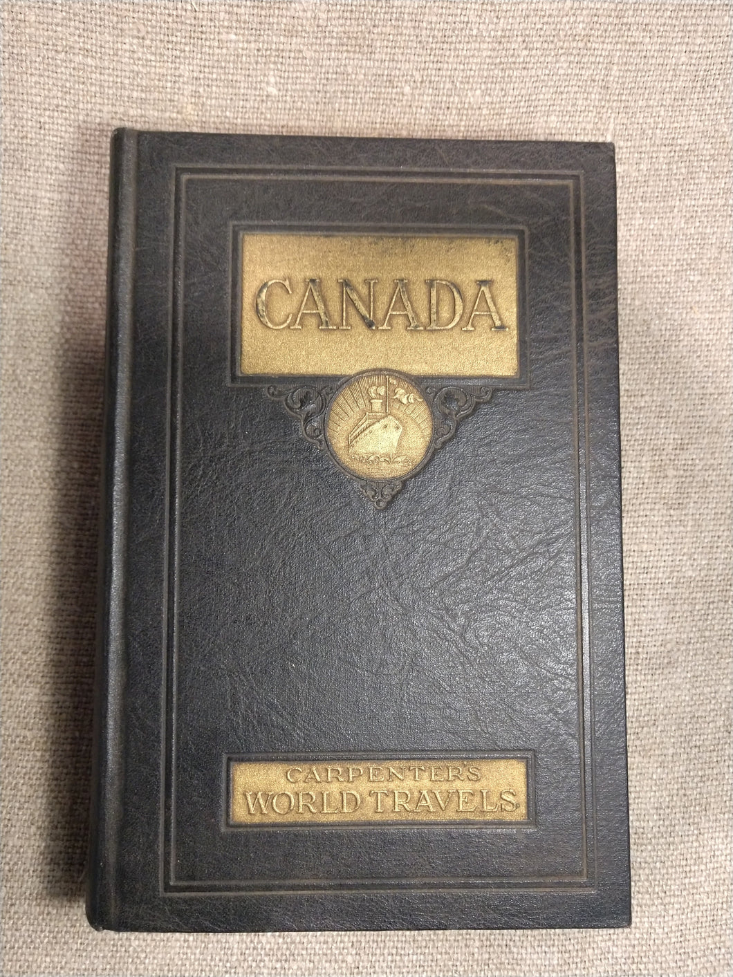 Canada History Book, Leather Bound, Carpenter's World Travels