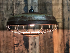 Vintage Chicken Feeder Pendant Lamp (single)