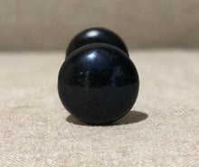 Antique Black Porcelain Door Knob (pair)