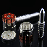 6-Shooter Revolver Tobacco Pipe With Grinder