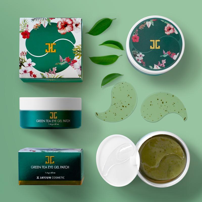 JAYJUN Green tea Eye Gel Patch 60pcs - Ginger Cosmetics (6084756373692)