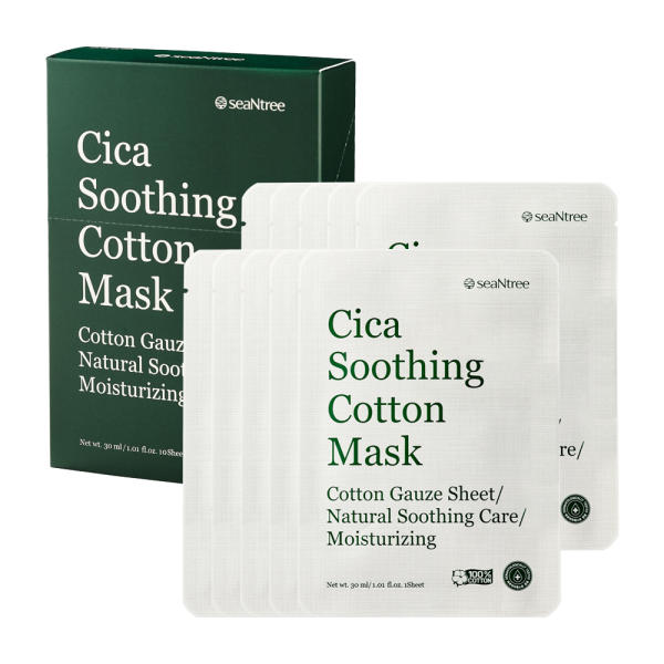 seaNtree Cica Soothing Cotton Mask - Ginger Cosmetics