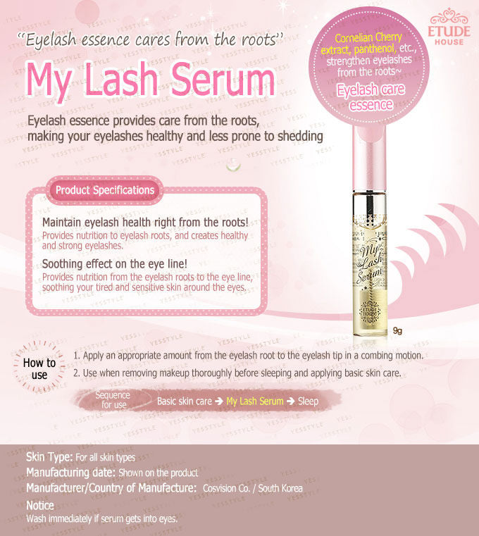 Etude House My Lash Serum 9g - Ginger Cosmetics