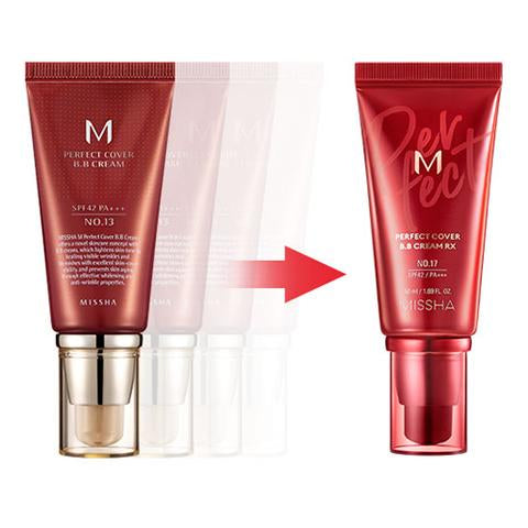 Missha M Perfect Cover BB Cream RX 50ml (3 shades) - Ginger Cosmetics