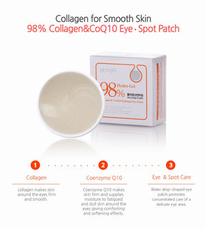 Petitfee Collagen & CoQ10 Hydrogel Eye Patch 60pcs - Ginger Cosmetics