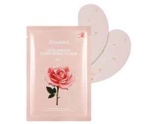 JMsolution Glow Luminous Flower Firming Eye Mask Rose 1pcs - Ginger Cosmetics