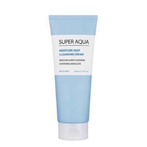 Super Aqua Moisture Deep Cleansing Cream 200ml