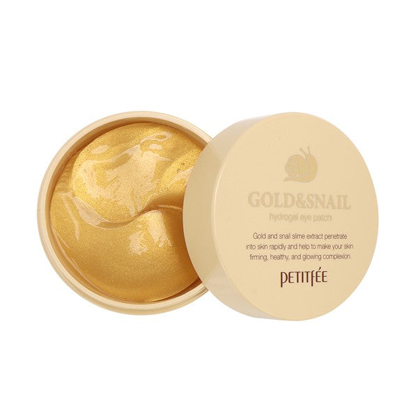 Petitfee Gold & Snail Hydrogel Eye Patch 60pcs - Ginger Cosmetics