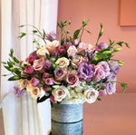 Lisianthus and Rose Arrangement