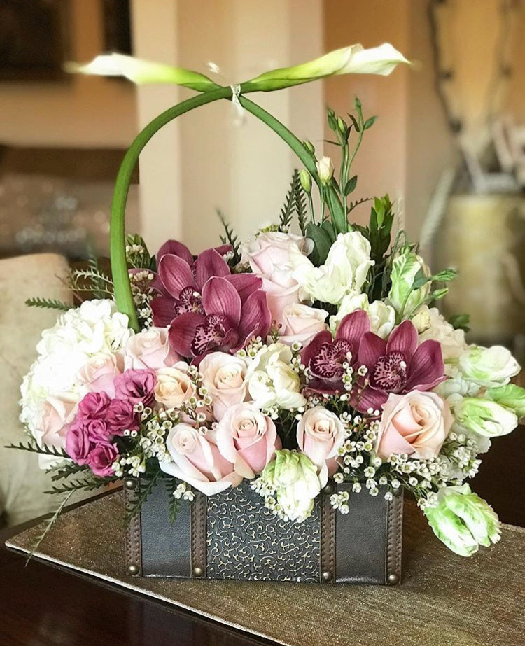 Orchid Rose Basket