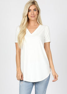 Premium Fabric Short Sleeve Relaxed Fit T-Shirt Tunic Plus & Misses rts