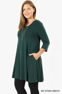 Long Flowy Relaxed Fit Tunic - Misses & Plus rts