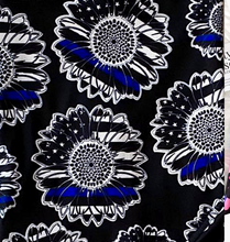 Thin Blue Line Sunflower CAPRIS LEO Police Super SOFT Yoga Band Leggings OS TC Plus rts