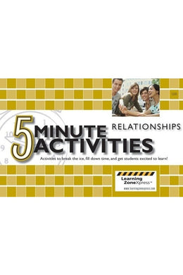 5 Minute Activities Relationships Grades 6-12
