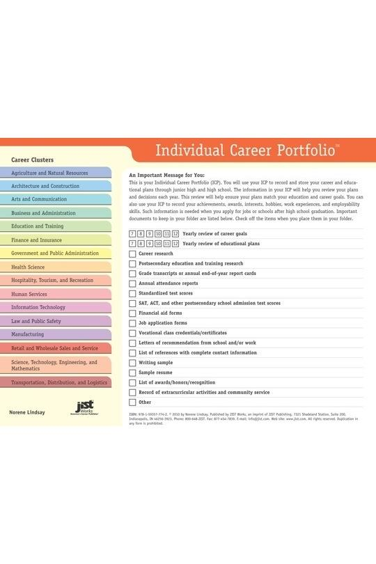 Individual Career Portfolio For Grades 7-12