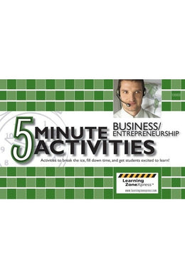 5 Minute Business & Entrepreneurship Activities Grades 6-12