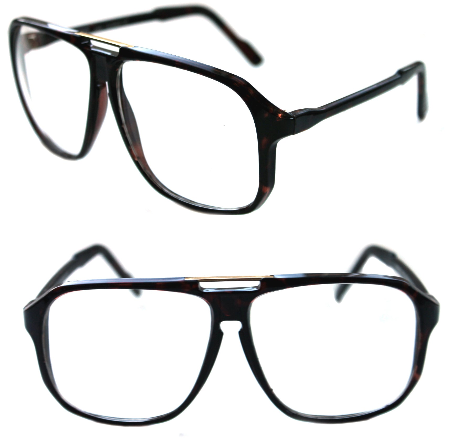 d36f2c22a7c ... Men s Hip Hop 80 s Vintage Clear Lens Gazelle Large Square Eye Glasses  ...