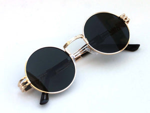 b9fa45aa65c Men s Women s Round Shape Bad and Boujee Hip Hop Swag Quavo Metal Sunglasses  Retro Gold Frame