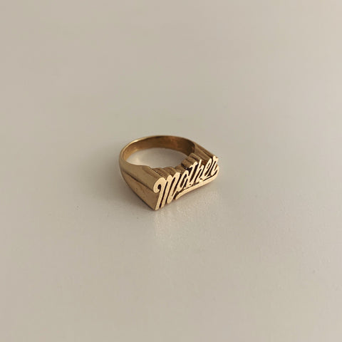 Gold Mother's Ring. Erin Keary Jewelry