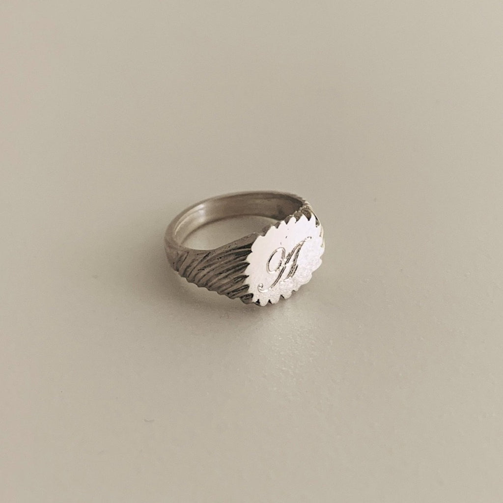 Silver Engraved Keepsake Ring