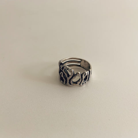 Melt Ring Sterling Silver