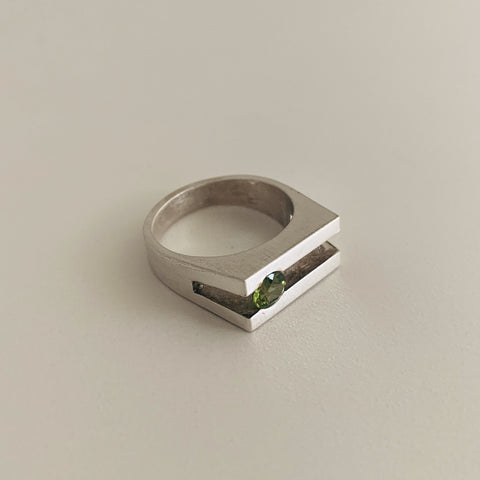 Peridot Bar Ring