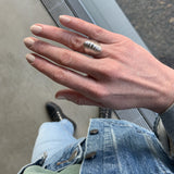 Erin Keary wearing the Ribbed Dome Ring