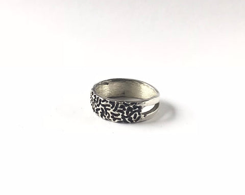 Erin Keary Sterling Silver Coral Ring