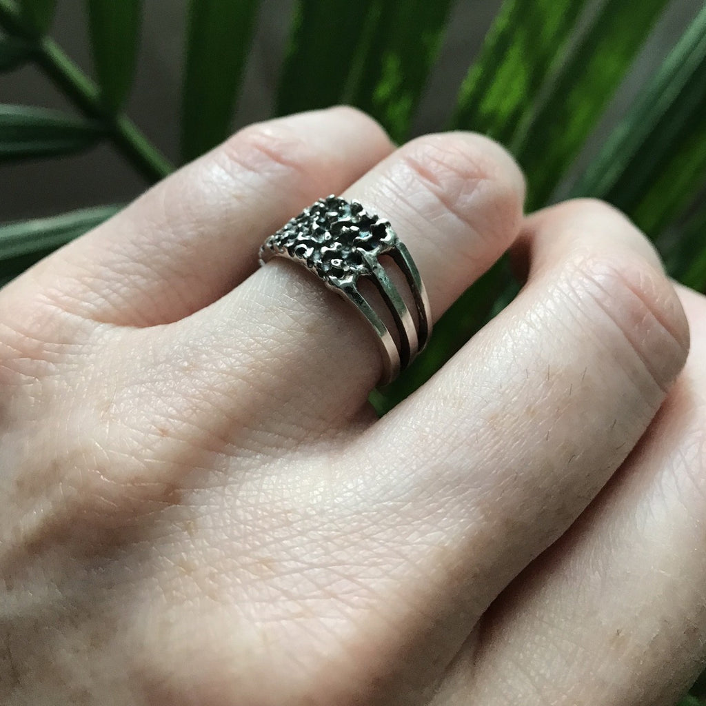 Erin Keary wearing the Sterling Silver Grit Ring