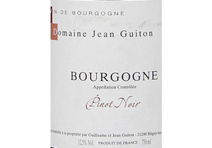 Jean Guiton Bourgogne Rouge 2018