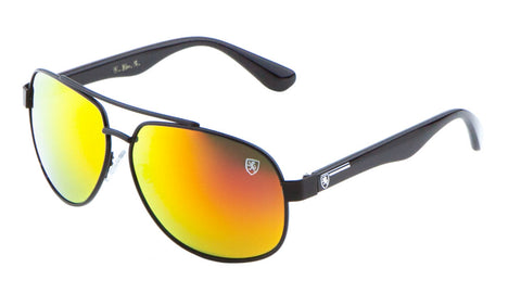 8KN-2002-CM - KHAN Aviators Color Mirror Wholesale Sunglasses