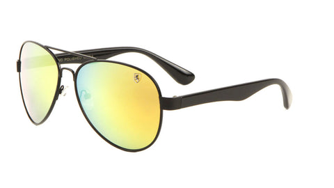 8KN-2010-CM - KHAN Color Mirrored Aviators Wholesale Bulk Sunglasses