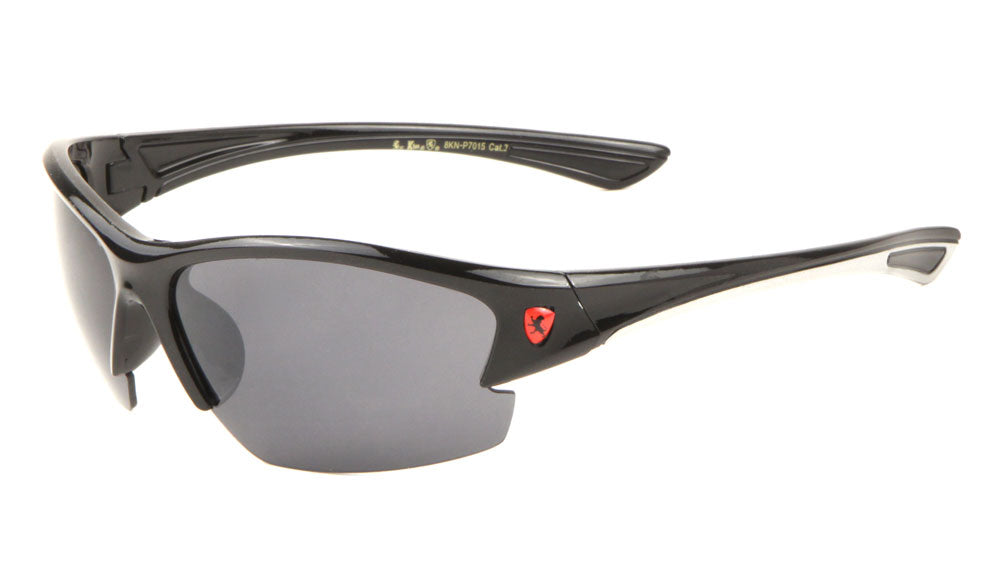 KHAN Semi-Rimless Sports Sunglasses Wholesale