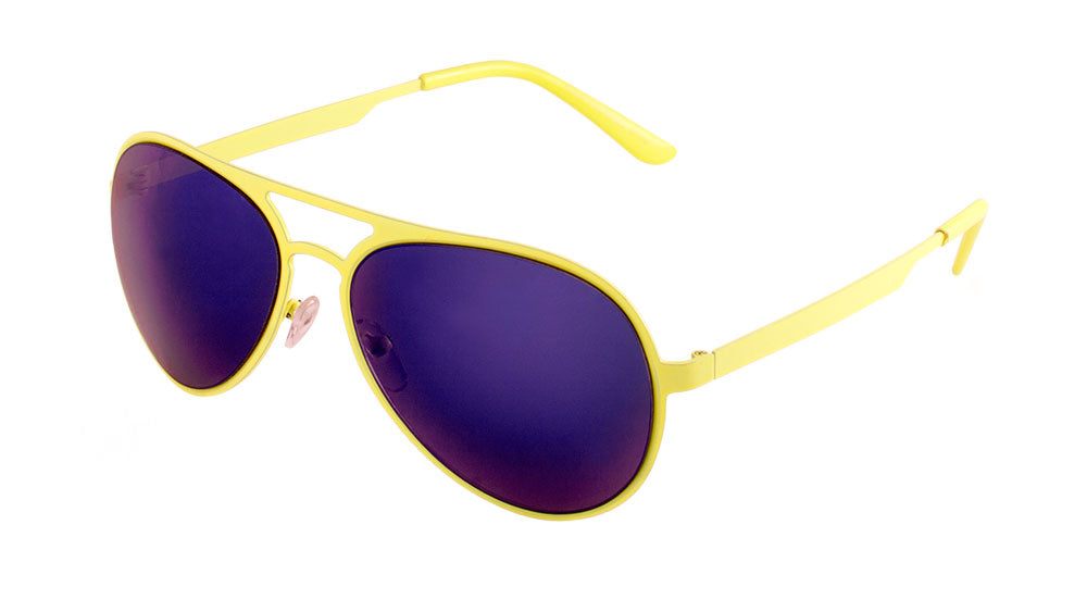 Neon Color Frame Color Mirror Lens Bulk Aviators