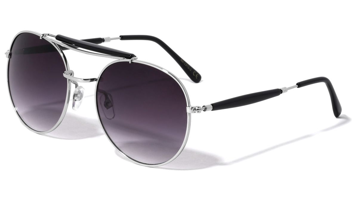 Top Bar Aviators Fashion Wholesale Sunglasses