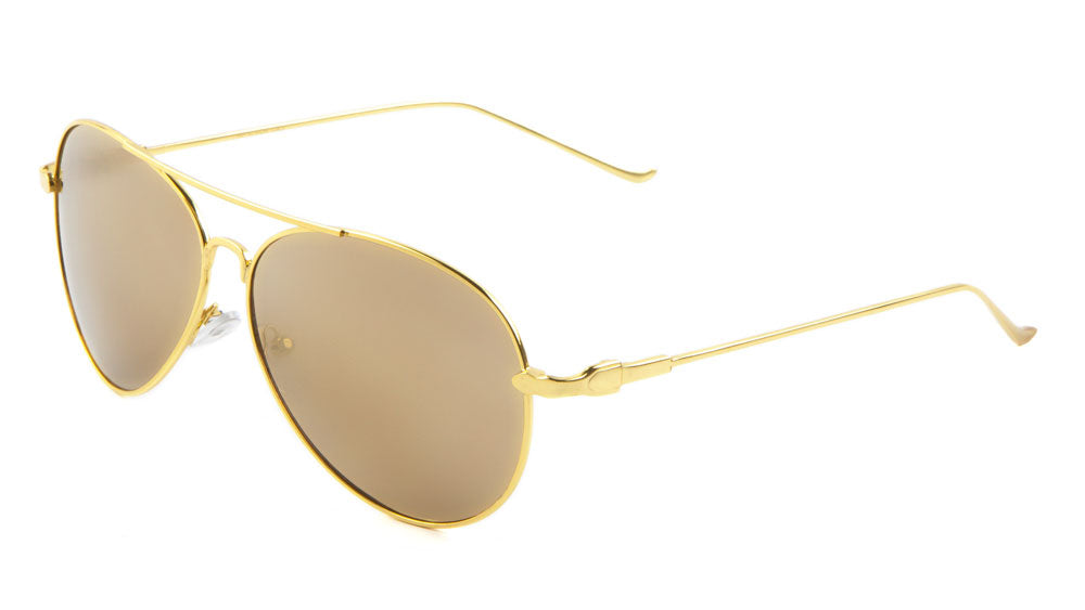 Color Mirror Aviators Wholesale Bulk Sunglasses