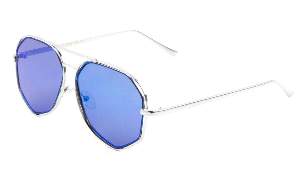 AV-1479 - Angled Aviators Wholesale Bulk Sunglasses