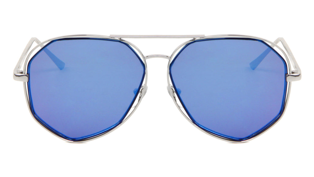 Angled Aviators Wholesale Bulk Sunglasses