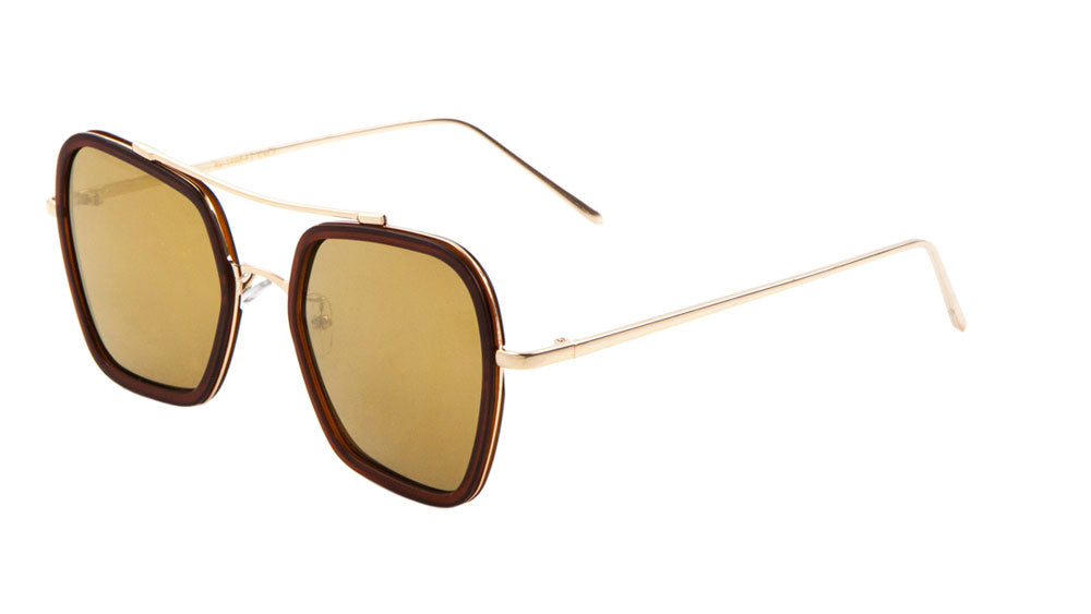 AV-1498-FT - Squared Flat Aviators Wholesale Bulk Sunglasses