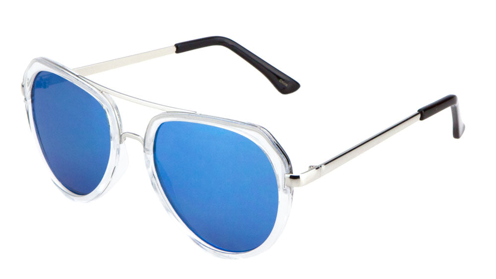 Flat Top Flat Color Mirror Aviators Wholesale Bulk Sunglasses