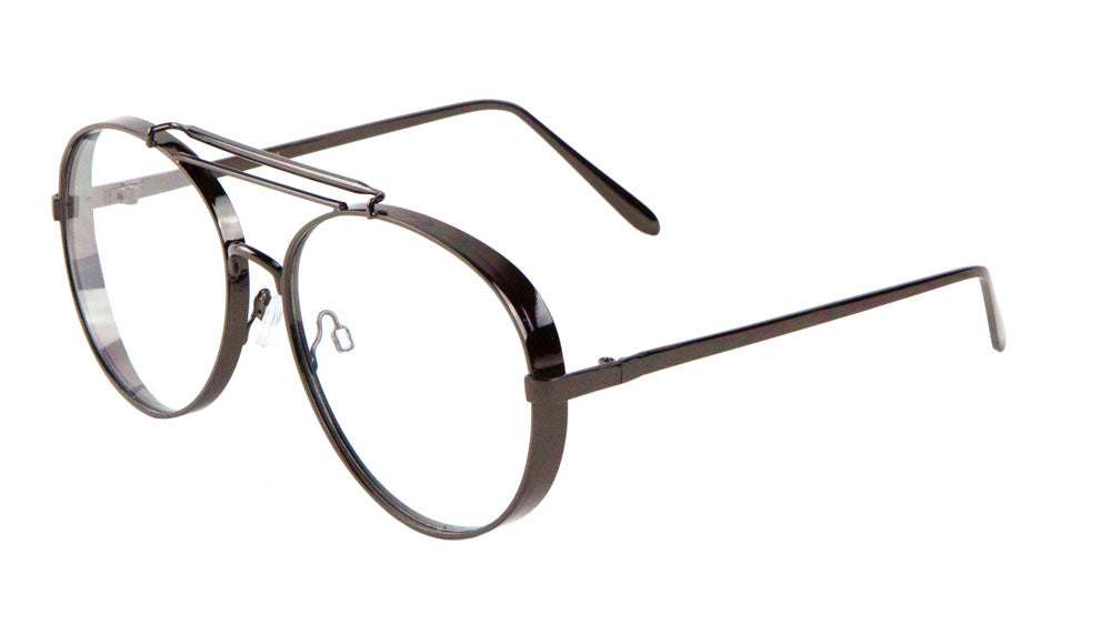 Thick Rim Barrel Frame Aviators Wholesale Glasses