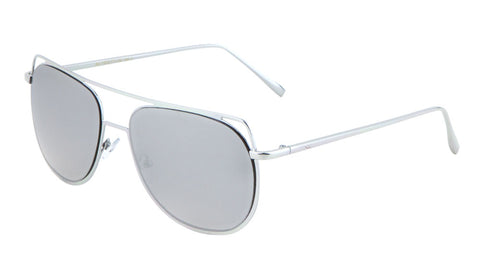 AV-1509-FT-CM - Aviators Flat Color Mirror Sunglasses Wholesale