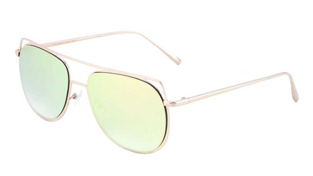 Aviators Flat Color Mirror Sunglasses Wholesale