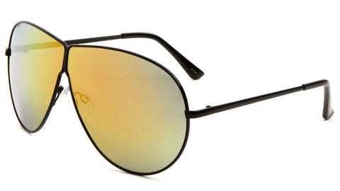 AV-1528-CM - Large Lens Color Mirror Aviators Wholesale Bulk Sunglasses