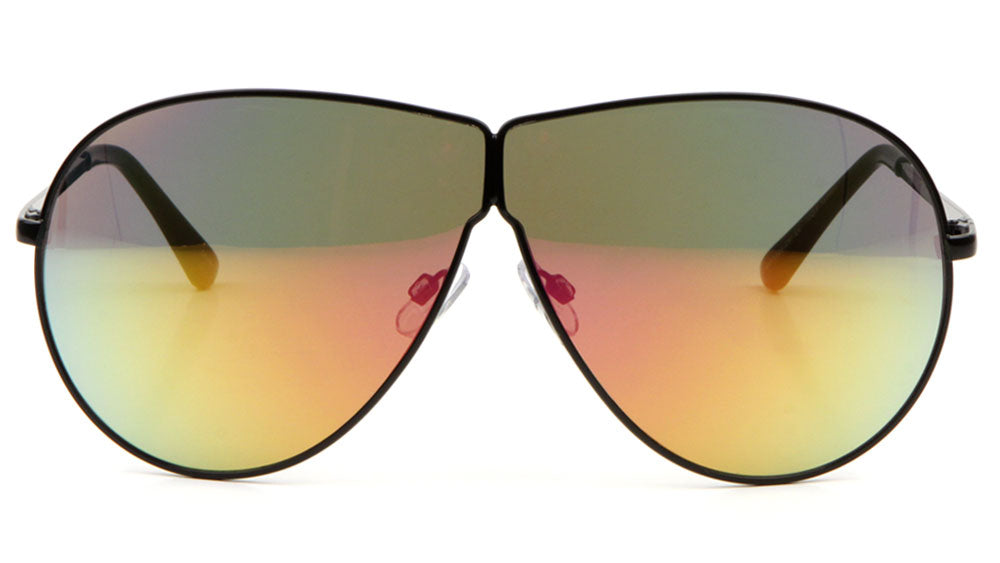 Large Lens Color Mirror Aviators Wholesale Bulk Sunglasses