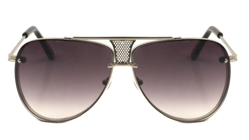 Aviators Thin Grille Fashion Sunglasses Wholesale