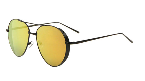 AV-1544-CM - Side Shield Color Mirror Aviators Wholesale Sunglasses