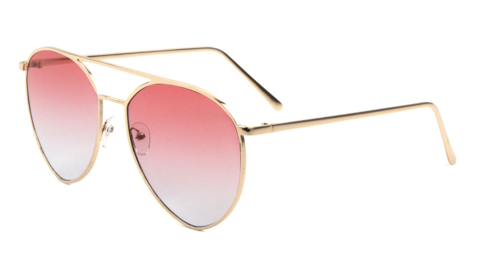 Diamond Oceanic Color Aviators Wholesale Bulk Sunglasses