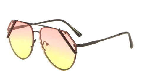 AV-1570-OC - Rimless Corner Bar Oceanic Color Len Bulk Aviators