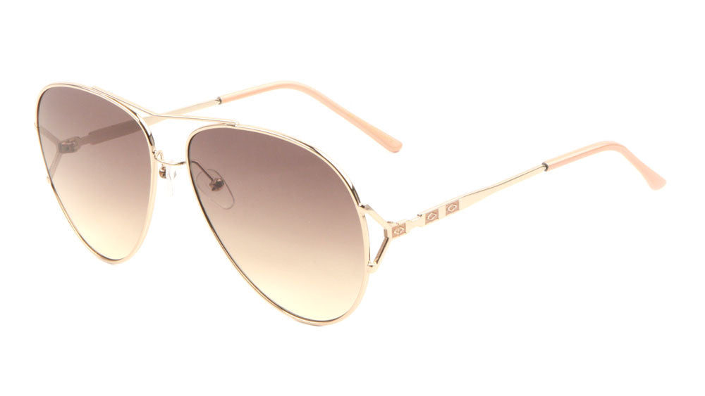 Aviators Oceanic Color Lens Fashion Metal Accent Sunglasses Wholesale